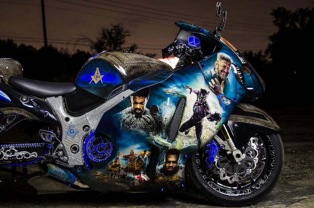 Chadwick Boseman Black Panther Custom Suzuki Hayabusa