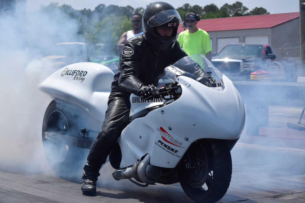 Williford Racing nitrous turbo drag racing motorcycle Dahli Lhama