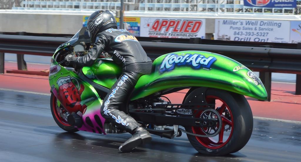 Jeremy Teasley nitrous turbo drag racing motorcycle  Kool Aid