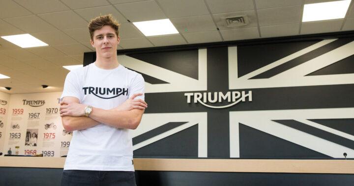 Brandon Paasch joins the PTR Dynavolt Triumph British Supersport Team